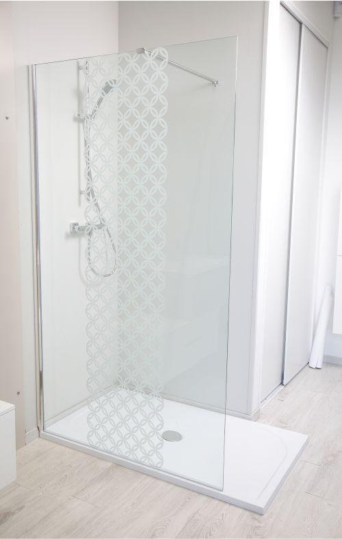 paroi de douche fixe taila 8mm s rigraphie 120 cm chrom. Black Bedroom Furniture Sets. Home Design Ideas
