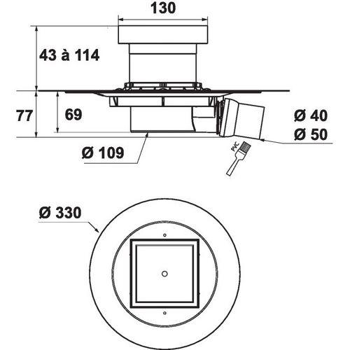 douche italienne siphon de sol venision grille carreler. Black Bedroom Furniture Sets. Home Design Ideas