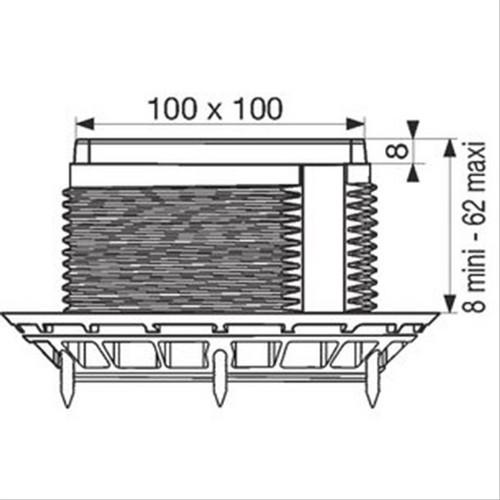 Trepied Pour Siphon Vertical Pmr Nicoll D141128a Vidage Baignoire Accessoires Pour Kit Siphon Pmr Nicoll