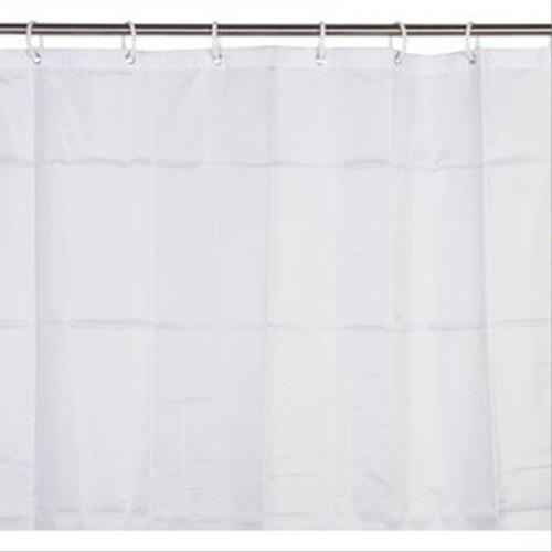 Rideau de douche textile uni blanc 120x200 d149716a receveur douche rideau de douche textile - Rideau de douche textile ...