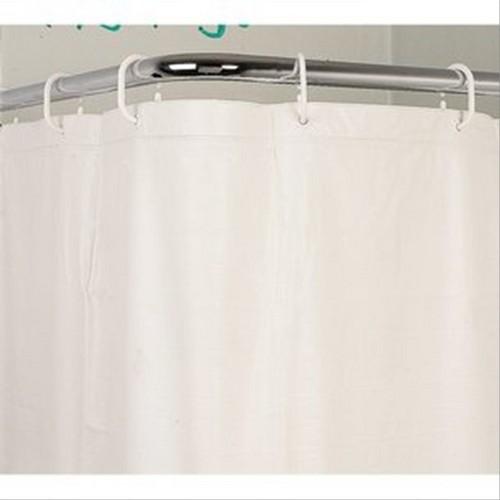 Rideau de douche Vinyl Sealskin uni blanc 90x180 avec anneaux ...