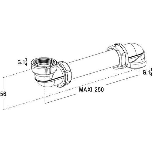 vidage lavabo tubulaire easyphon gain de place. Black Bedroom Furniture Sets. Home Design Ideas