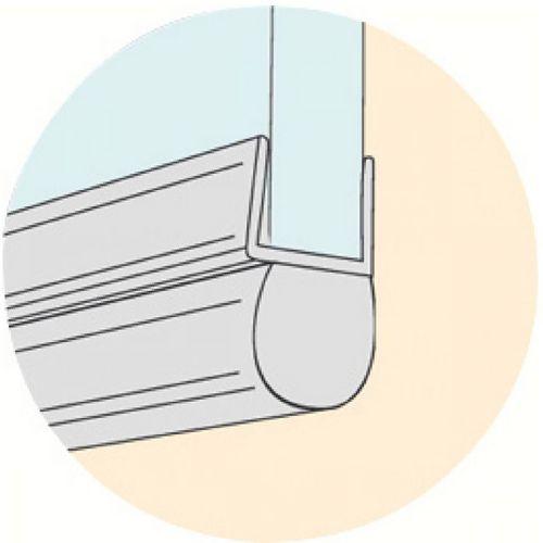 receveur douche baguette pvc pour bas de porte de douche geb. Black Bedroom Furniture Sets. Home Design Ideas