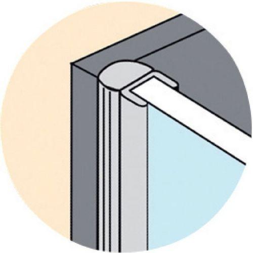 receveur douche baguette pvc pour c t de porte de douche geb. Black Bedroom Furniture Sets. Home Design Ideas