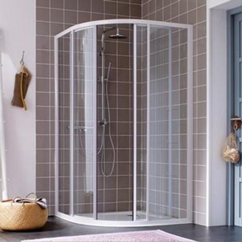 Paroi de douche paroi leda atout 2 quart de rond porte coulissante - Paroi de douche quart de rond ...