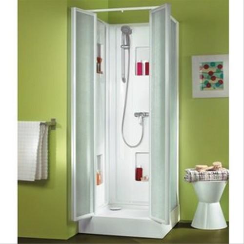 cabine leda izi box 80x80cm verre transparent 4mm portes. Black Bedroom Furniture Sets. Home Design Ideas