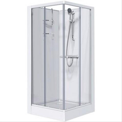 Cabine leda izi glass 90x90cm portes coulissantes d194257a for Cabine de douche sans porte