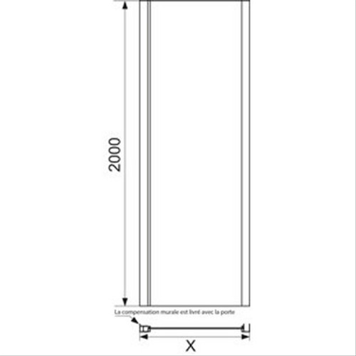 barre de stabilisation pour paroi leda jazz fixe d198258a paroi de douche paroi leda jazz fixe. Black Bedroom Furniture Sets. Home Design Ideas