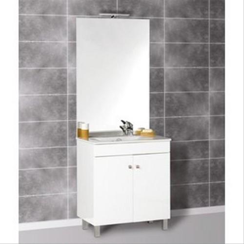 Meuble ecoline 80 clairage bandeau d202022a lavabo for Eclairage lavabo