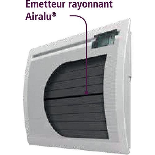 Radiateur lectrique radiateur panneau rayonnant horizontal aixance 2 sas airelec - Radiateur electrique panneau rayonnant ...