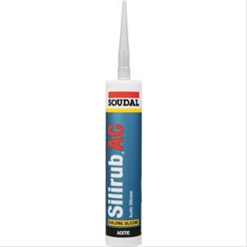 Silicone acétique vitrage et joints Soudal Silirub AC