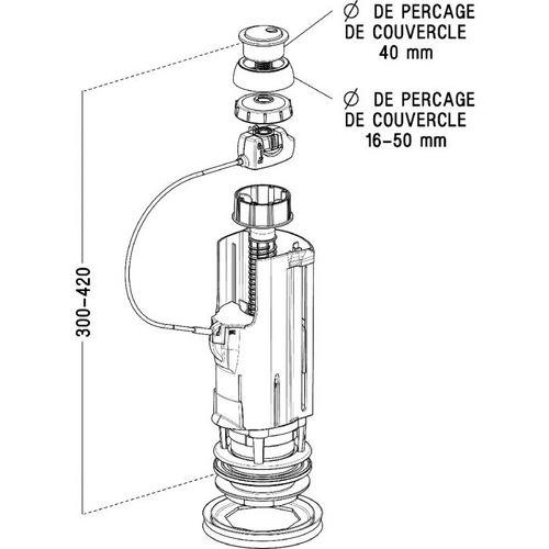 Mécanisme Wc Mécanisme Sas 2v Compact