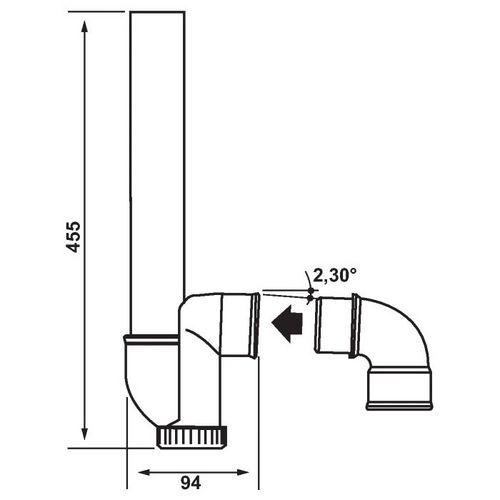 vidage machine laver siphon plastique gain de place. Black Bedroom Furniture Sets. Home Design Ideas