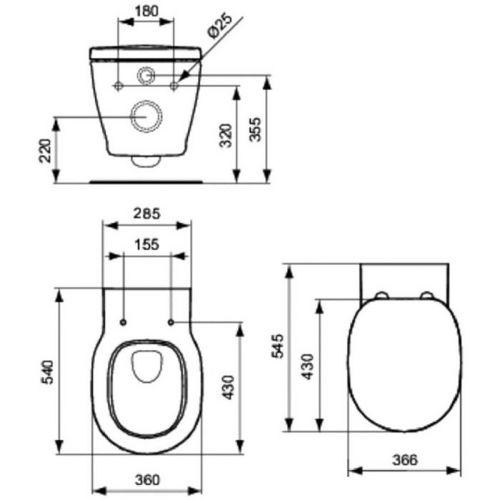 Cuvette pour support wc cuvette suspendue connect ideal for Cuvette suspendue ideal standard