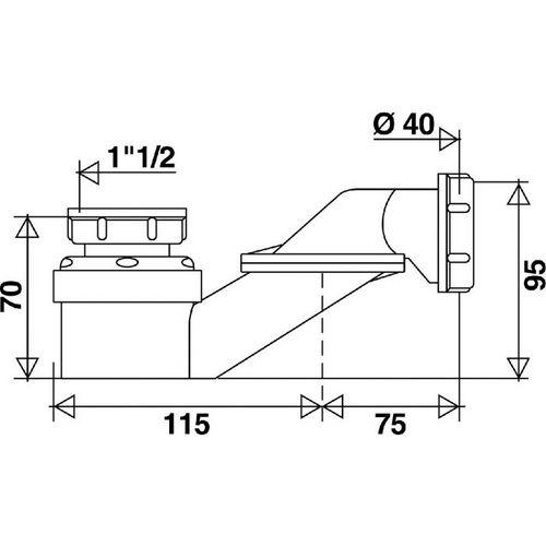 vidage baignoire siphon de baignoire extra plat. Black Bedroom Furniture Sets. Home Design Ideas