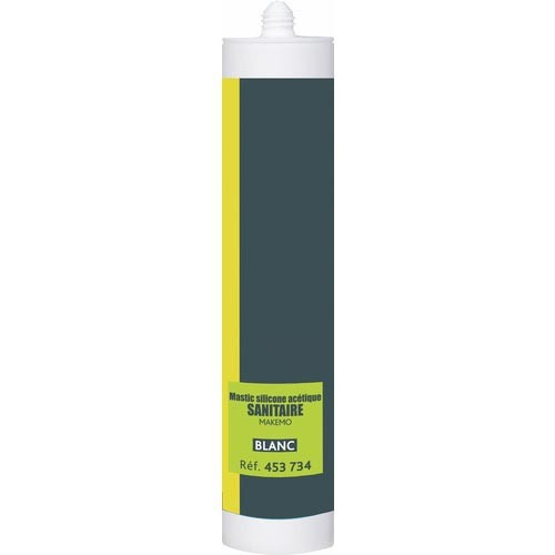Mastic sanitaire silicone acétique Makemo P-Pro