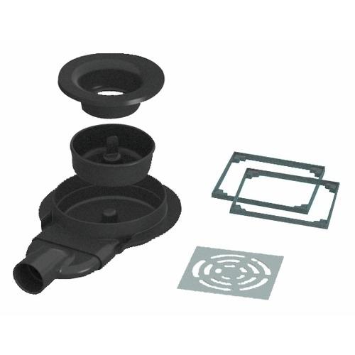 Siphon de sol extra plat rotaslim sortie horizontale 40mm for Siphon de douche extra plat