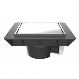 bonde de sol extra plate pour douche carreler quadratto grille m tal f494796a vidage douche. Black Bedroom Furniture Sets. Home Design Ideas