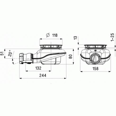 vidage douche bonde de douche universelle turboflow 2. Black Bedroom Furniture Sets. Home Design Ideas