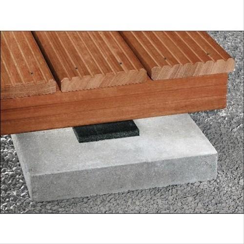 Terrasse Spax : Bo u00eete de 25 joints mousse isolant 100x100x8mm pour