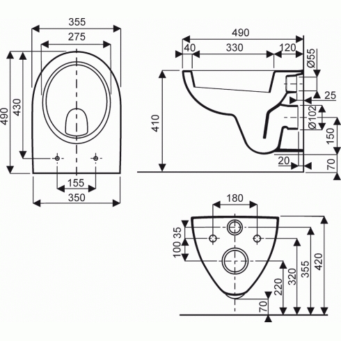 cuvette pour support wc base courte royan allia. Black Bedroom Furniture Sets. Home Design Ideas