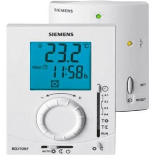 thermostat programmable journalier sans fil rdj10rf set siemens f774046a thermostat sans fil. Black Bedroom Furniture Sets. Home Design Ideas