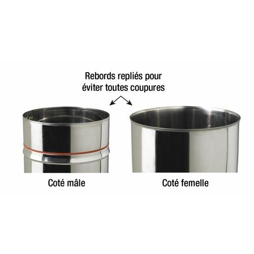 tubage chemin e chaudi re po le tubage inox rigide. Black Bedroom Furniture Sets. Home Design Ideas