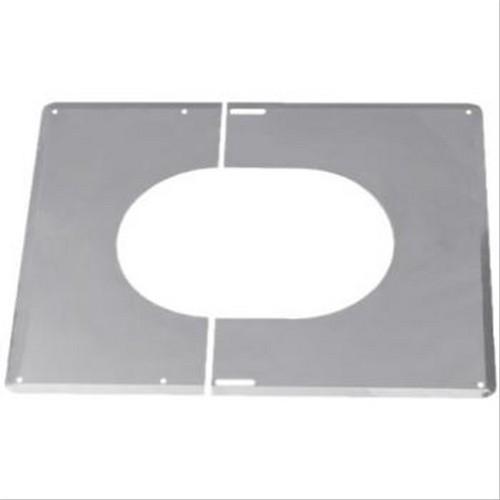 Plaque de finition inox ten 30 45 200mm f778597a for Plaque de finition poele