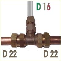 Piquage t vis cu22 sur multi dn16 pt2216ma raccord - Raccord cuivre multicouche ...