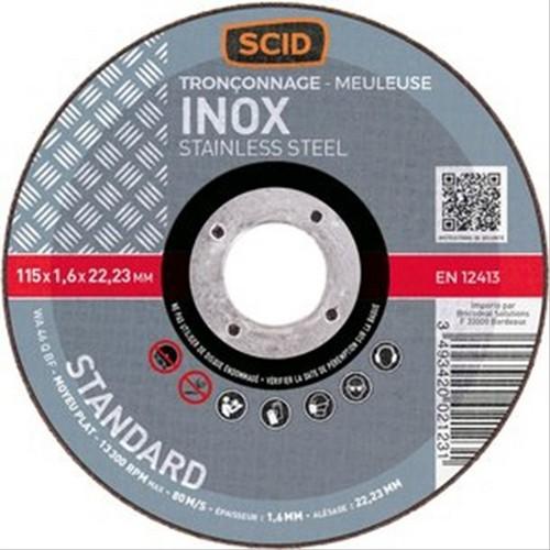 disque a tron onner l 39 inox 115mm q236028a disque de. Black Bedroom Furniture Sets. Home Design Ideas
