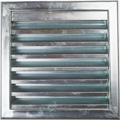 Grille murale en acier galvanis 39 39 renson 39 39 500x500mm for Grille de ventilation murale