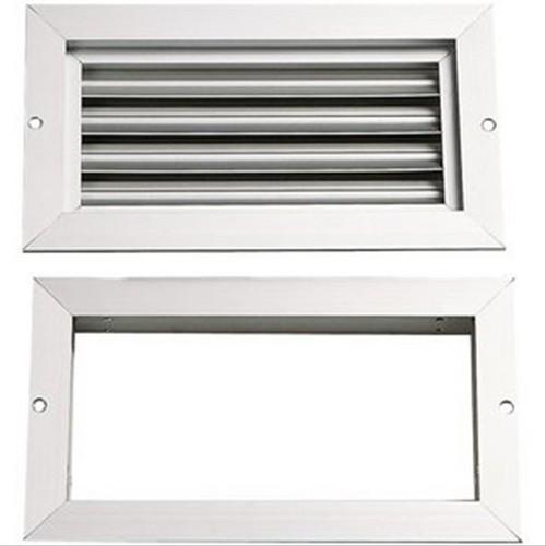 grille de ventilation grille de porte en alu double cadre 200x400 39 39 renson. Black Bedroom Furniture Sets. Home Design Ideas