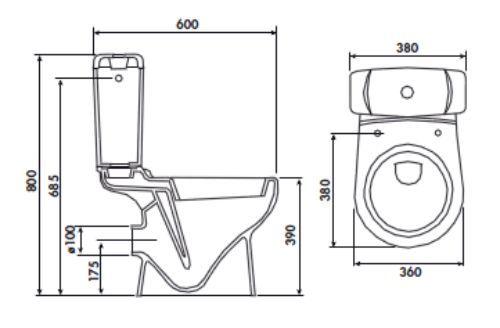 pack wc au sol pack wc gain de place avec double commande. Black Bedroom Furniture Sets. Home Design Ideas