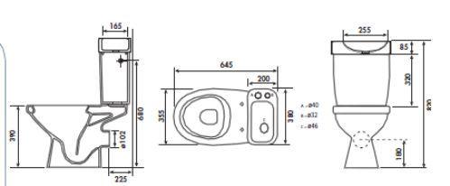 pack wc au sol pack wc gain de place avec lave main double commande 3 6 litres. Black Bedroom Furniture Sets. Home Design Ideas