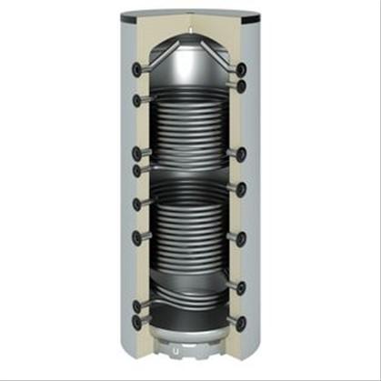 Ballon tampon acier 800 litres 2 serpentins 1910x990 790 for Ballon tampon 800 litres