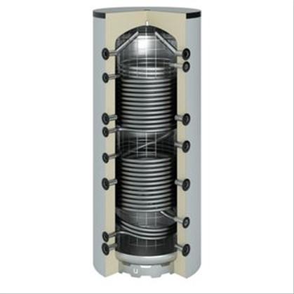 Ballon sanitaire chauffage acier 800 litres 2 serpentin - Isolation ballon eau chaude ...