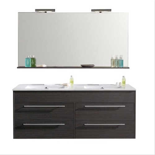 meuble suspendre 120cm grey duba p pro s950503a. Black Bedroom Furniture Sets. Home Design Ideas