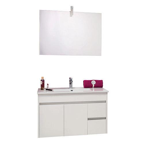 meuble salle de bain suspendu lumpur 100 spot double s968100a meuble meuble suspendu lumpur. Black Bedroom Furniture Sets. Home Design Ideas