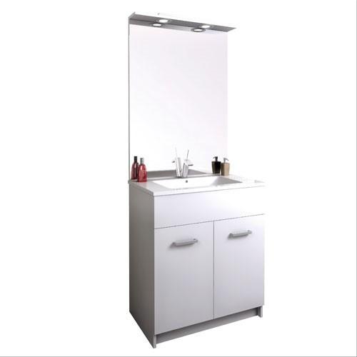 Meuble salle de bain au sol 70cm tampa 2 p pro s980700a for Plomberie salle de bain au sous sol