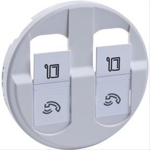 enjoliveur double prise t l phonique rj45 c liane legrand blanc w110240a c liane prise rj45. Black Bedroom Furniture Sets. Home Design Ideas